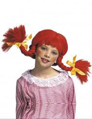 Parrucca trecce rosse ragazza