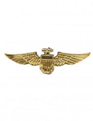 Spilla pilota aeronautica dorata