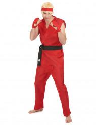Costume da arti marziali in rosso per adulto