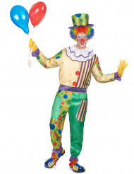 Costume clown con colletto uomo