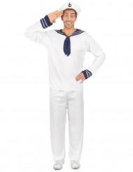 Costume marinaio uomo bianco e blu