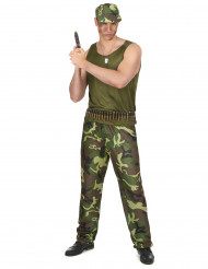 Costume militare con berretto per uomo