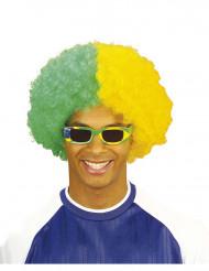 Parrucca da tifoso del Brasile per uomo