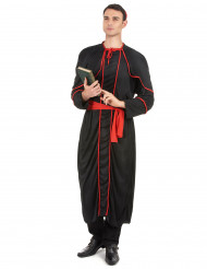 Costume da vescovo in nero per adulto