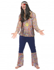 Costume hippie peace and love per uomo