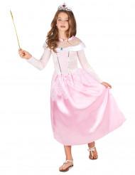 Costume rosa da principessa per bambina