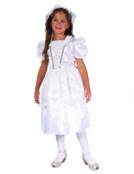 Costume da sposa in bianco per bambina