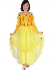 Costume da principessa in giallo e rosso per bambina