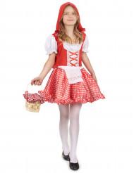 Costume con cappuccio rosso per bambina