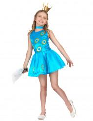 Costume da principessa pavone per bambina