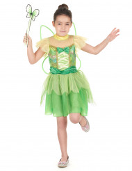 Costume magica fatina verde bambina