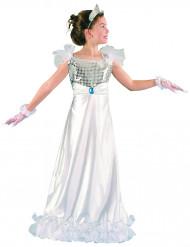 Costume da principessa in bianco per bambina