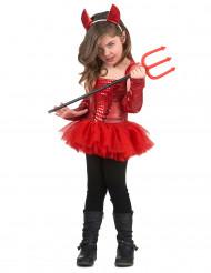 Costume diavolessa con tutu bambina