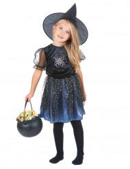 Costume da strega ragno con brillantini bambina