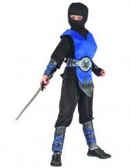 Costume da guerriero ninja blu bambino