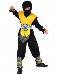 Costume da guerriero ninja giallo bambino