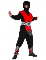 Costume ninja argento e rosso bambino