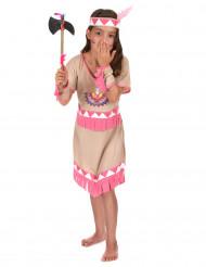 Costume indiana bianca e rosa per bambina