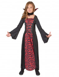 Costume vampiro con teschi per bambina