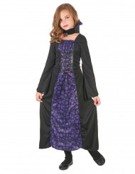 Costume vampiro viola con teschi bambina
