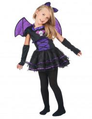 Costume da pipistrello viola bambina