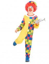 Costume da clown a scacchi per bambino