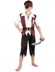 Costume pirata nero e marrone da bambino