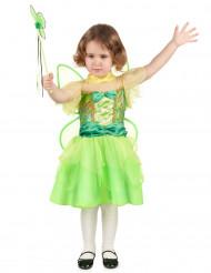 Costume fatina verde con papillon bambina
