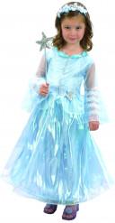 Costume principessa deluxe azzurro bambina