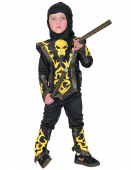 Costume ninja giallo bambino