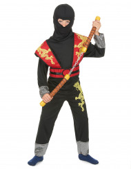 Costume ninja rosso e giallo bambino