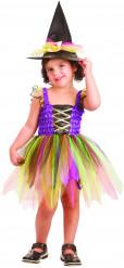 Costume strega arcobaleno bambina