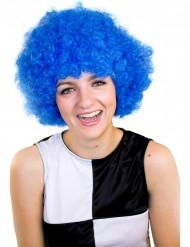 Parrucca blu afro adulto