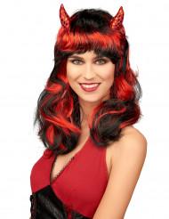 Parrucca diavolessa rossa donna