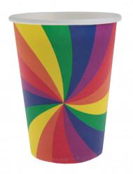 10 bicchieri arcobaleno
