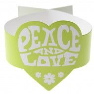 6 fermatovaglioli verdi hippie