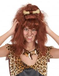 Parrucca marrone donna delle caverne