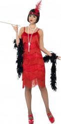 Costume anni 20 charleston rosso Donna