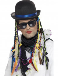 Cappello cantante con treccine colorate adulto