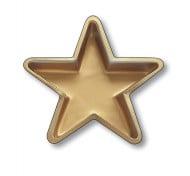 Piatto stella dorata
