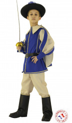 Costume principe azzurro moschettiere bambino