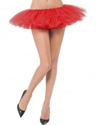 Mini tutu rosso donna