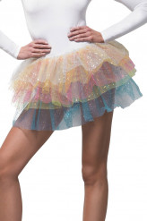 Tutu arcobaleno con paillettes donna