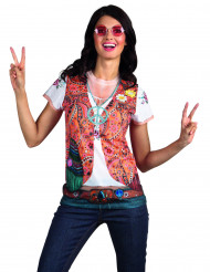 T-shirt con gilet da hippie per donna