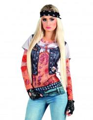 T-shirt rock tatuaggi donna