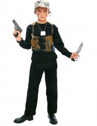 Costume da militare con accessori per bambino