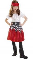Costume pirata bambina rosso