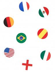 150 coriandoli da tavola bandiere Nazionali