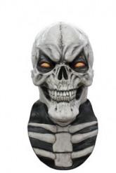 Maschera integrale scheletro bianca uomo