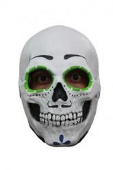 Maschera scheletro contorno occhi verdi
